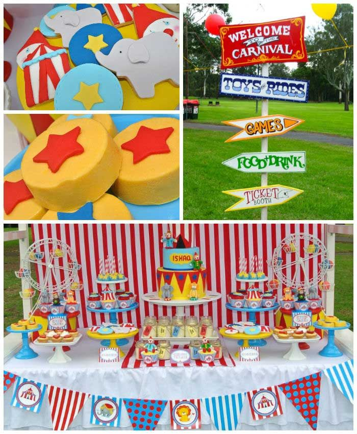 Big Top Circus Themed Birthday Party - karaspartyideas.com
