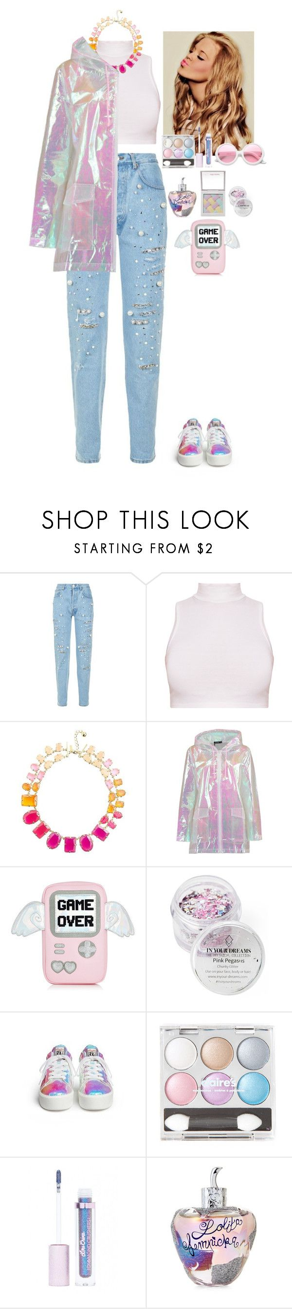 """""""Holographic"""" by eliza-redkina ❤ liked on Polyvore featuring Forte Couture, Kate Spade, Boohoo, In Your Dreams, Hard Candy, Lime Crime, Lolita Lempicka and ZeroUV"""