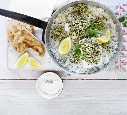 Steamed tilapia with green chilli & coconut chutney.  http://www.bbcgoodfood.com/recipes/1813676/steamed-tilapia-with-green-chilli-and-coconut-chut