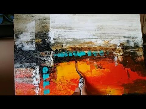 Acrylic Abstract Painting Demo Daily Painter 24