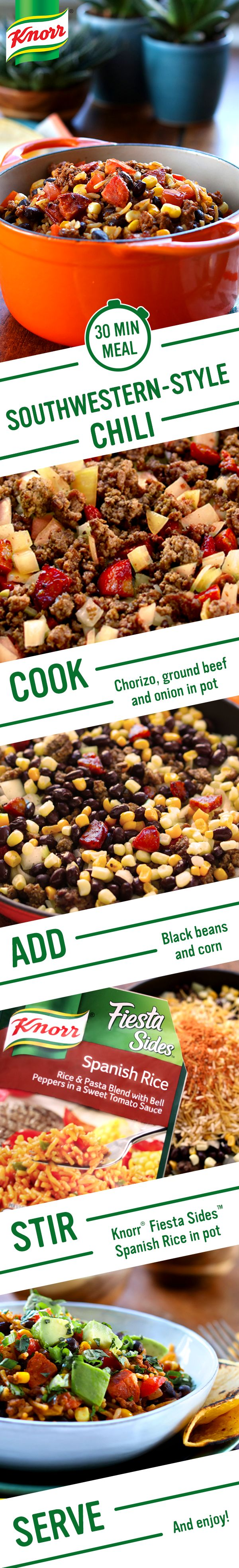 ... beef, & onion in one pot 2. Add black beans & corn 3. Stir in Knorr