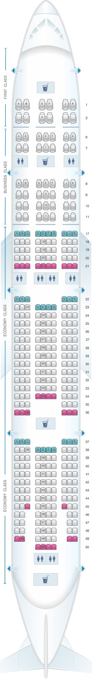Seat Map Emirates Boeing B777 300