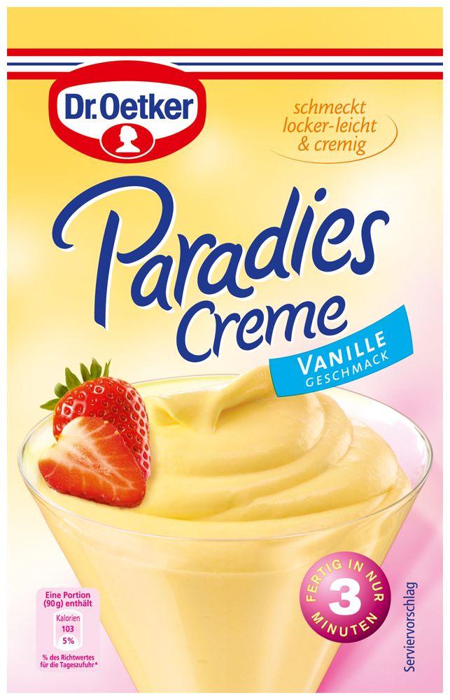 Paradies Creme Vanille Geschmack - Creme Desserts von Dr. Oetker