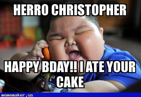 Awesome Meme in http://mememaker.us: chrisbday