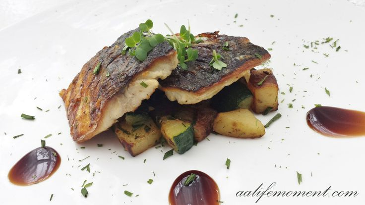 Grilled Fish - Mackerel accompanied with vegetables