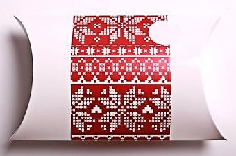 Funky and festive Christmas themed pillow gift boxes - great for earring, jewellery, gift vouchers - gift wrap - Xmas - present