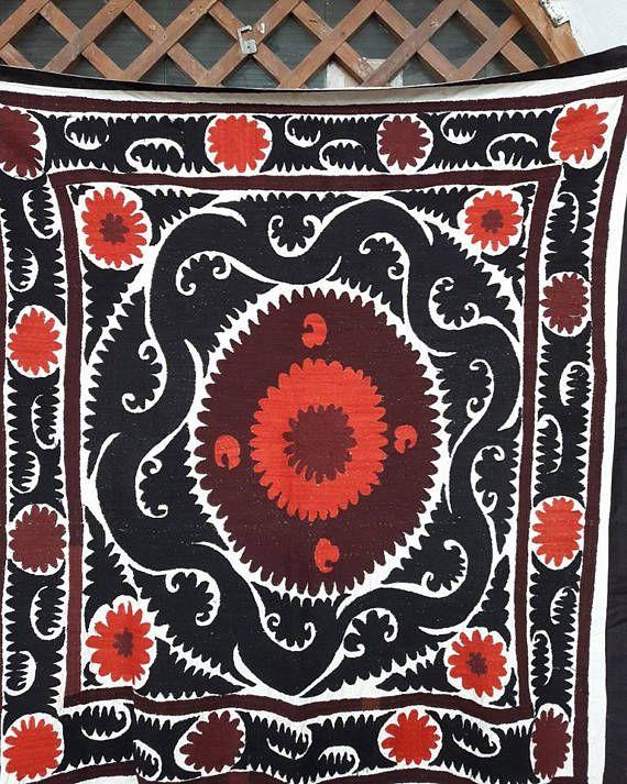 Uzbek vintage hand embroidery Suzani from Samarkand