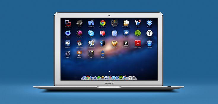 Fully Layered Macbook Air (PSD)