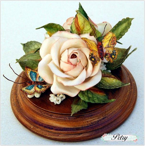 Rosa blanca de maicena. www.petry.es