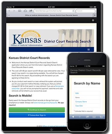 Office of Judicial Administration - Kansas District Court Records Search