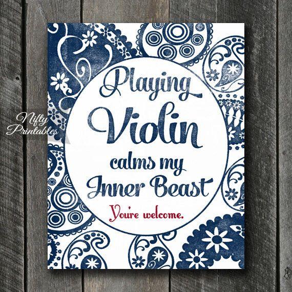 Violin Art - INSTANT DOWNLOAD Violin Print - Violin Poster - Funny Violin Wall Art - Violin Gifts - Paisley Violin Music Decor by NiftyPrintables on Etsy https://www.etsy.com/listing/256732995/violin-art-instant-download-violin-print