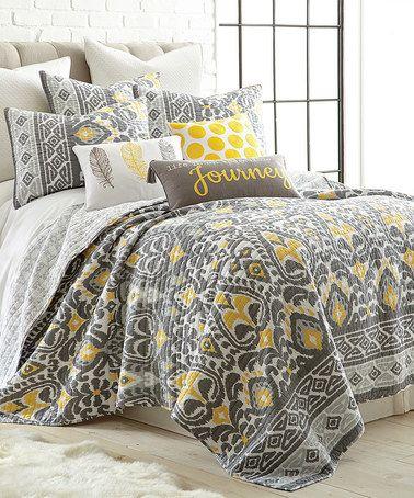 Look at this #zulilyfind! Taryn Gray & Yellow Quilt Set #zulilyfinds