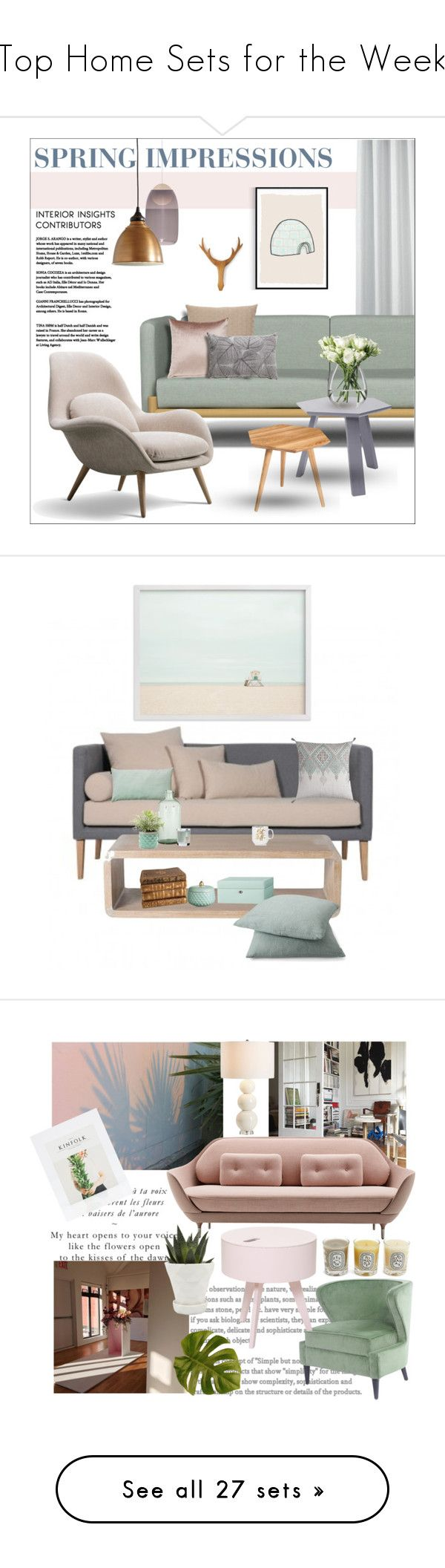 """""""Top Home Sets for the Week"""" by polyvore ❤ liked on Polyvore featuring interior, interiors, interior design, home, home decor, interior decorating, mater, Gus* Modern, Ballard Designs and LSA International"""