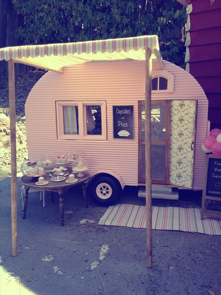 Best Vintage Trailers Camping Images On Pinterest Camper - Old shabby trailer gets one hell makeover