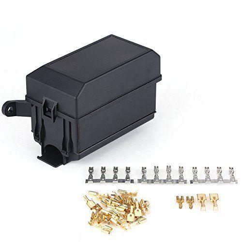 Automotive Fuse Relay Box Car Boat SUV Jeep Socket Panel Block Light