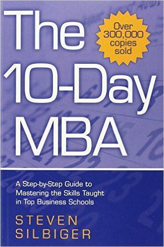 The 10-Day MBA: A Step by Step Guide to Mastering the Skills Taught in Top Business Schools is written by Steven Silbiger. It is an important business recommendation condensing the business education