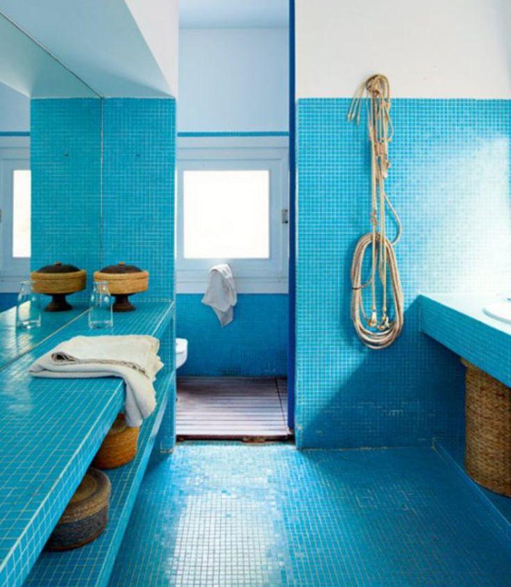 Vibrant Beach Themed Bathroom
