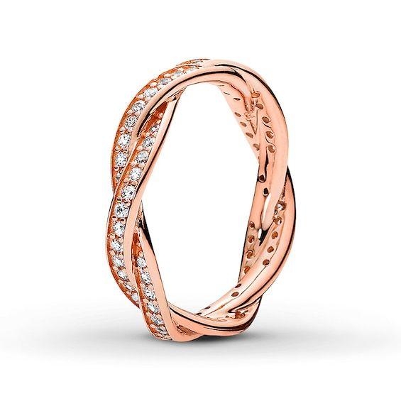 Pandora Rose Ring Twist Of Fate Jared In 2020 Pandora Rose Gold Rings Pandora Rose Gold Pandora Rings
