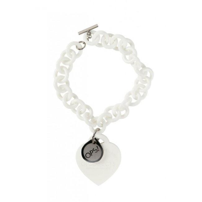 Ops Love bracelet white