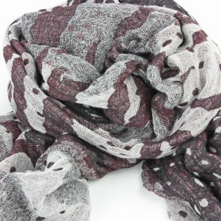 Amazon Wool Scarf in Grape by Juniper Hearth. 100% fine wool, handwoven. Grey / gray, charcoal and mauve tones. $89.