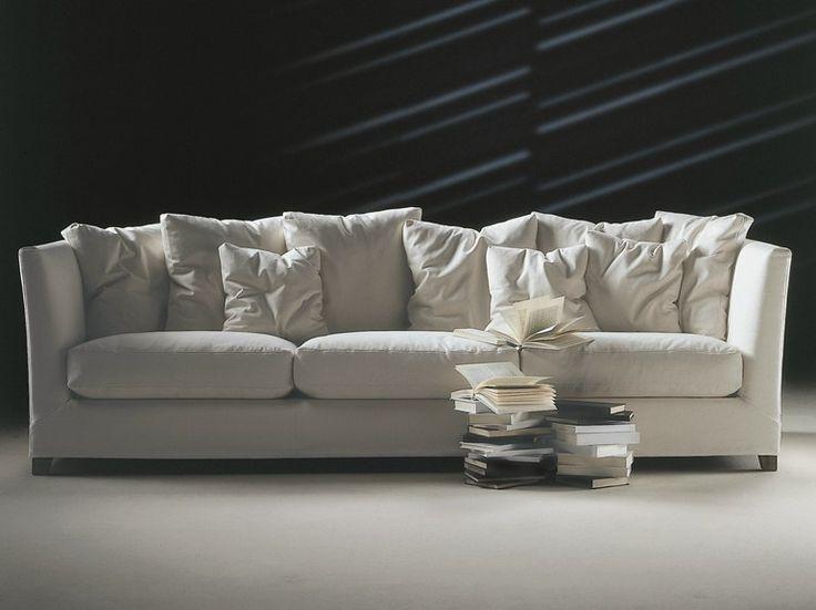 Divano imbottito sfoderabile in tessuto a 3 posti Collezione Victor by FLEXFORM | design Ufficio Tecnico Flexform