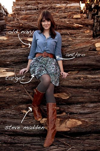 be fall. please: Midi Skirts, Fashion Shoes, Floral Skirts, Fall Style, Country Outfit, Chambray Shirts, Denim Shirts, Blue Floral, Outfit Winter