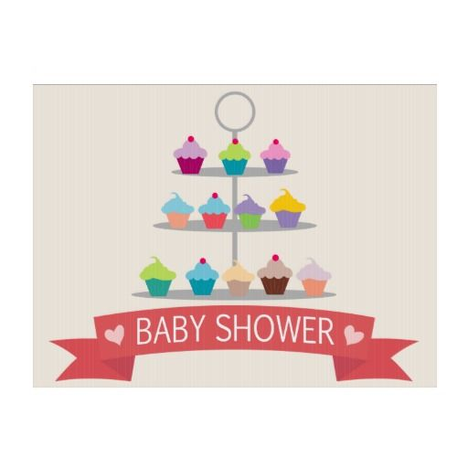 colorful cupcake tree baby shower yard sign