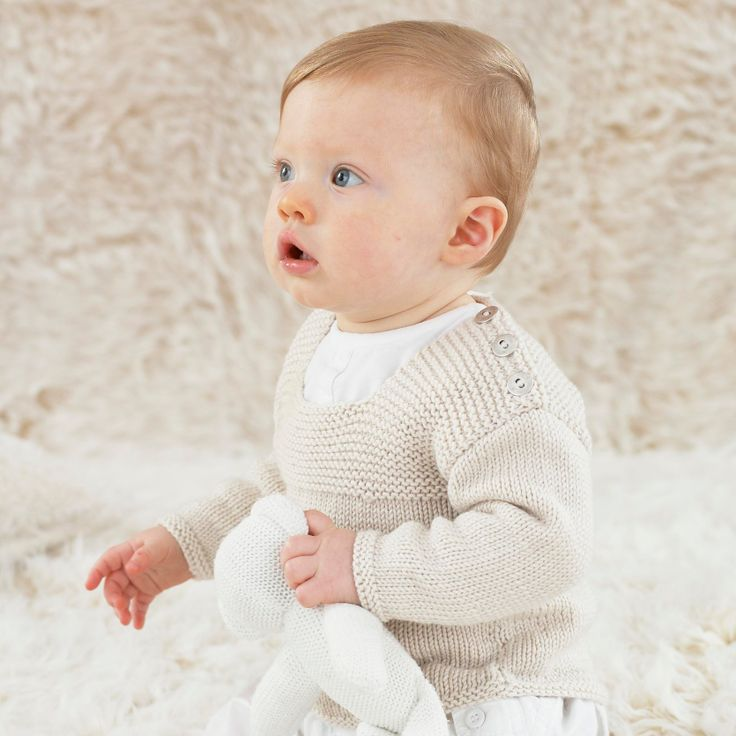 Sometimes the simplest designs are perfect for little boys. Noah from the twelfth little Sublime hand knit book 665.