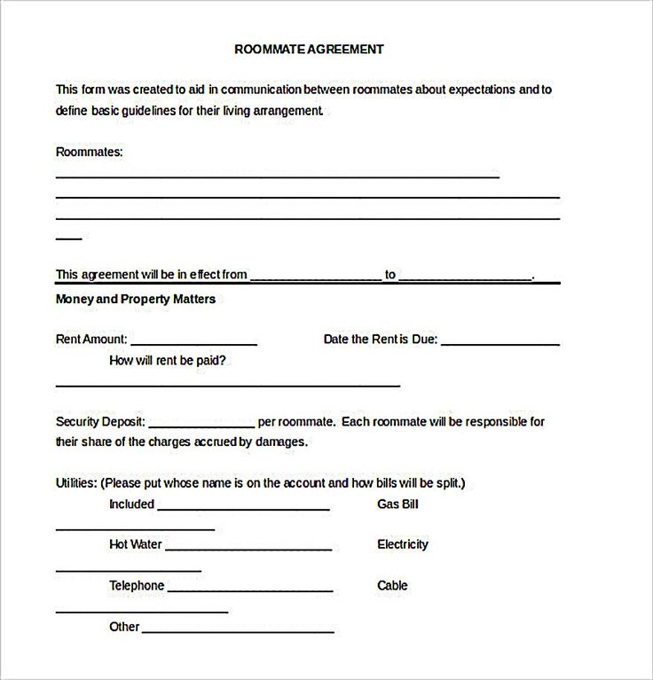 The 25+ best Roommate agreement ideas on Pinterest Roomate - job agreement contract