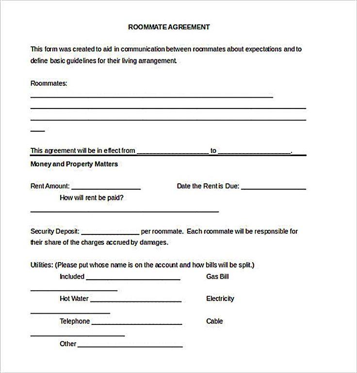 25+ melhores ideias de Acordo de companheiro de quarto no - roommate agreement form