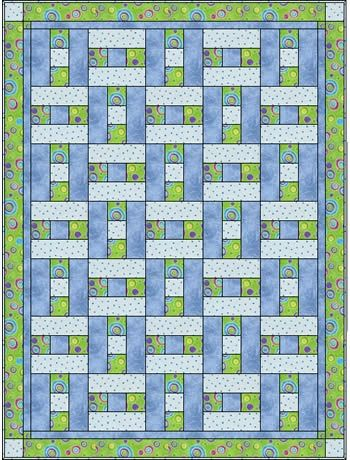 a simple H block, but looks like basket weaving, only 3 fabrics. I could do this. Aka 3 yard quilt.