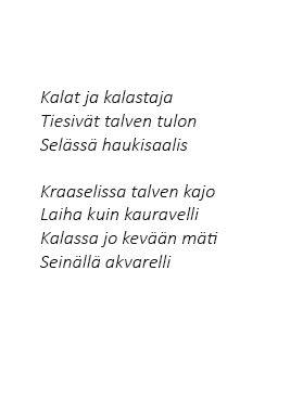 #kajo poem by #Lassi Kalleinen