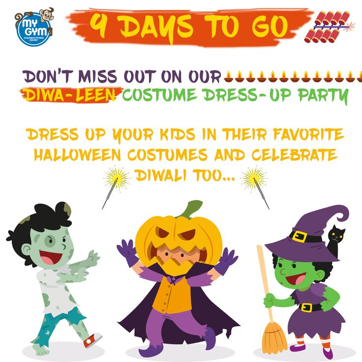 Dress Up Your Kids In Their Favorite Halloween Costume And Celebrate Diwali With Us At My Gym Call Us To Register 80000694 Halloween Costumes Kids Halloween