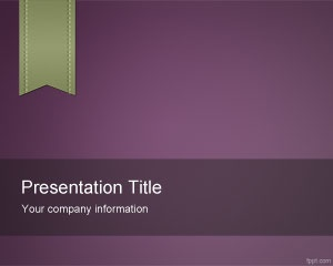 This freeViolet e-Learning PowerPoint Template is a free academic and educational template for elearning projects with a small bookmark design in the top left corner and violet background