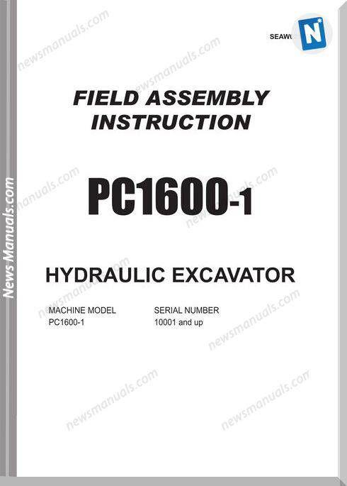 Komatsu Pc1600 1 Assembly Instruction Seaw021Ta102