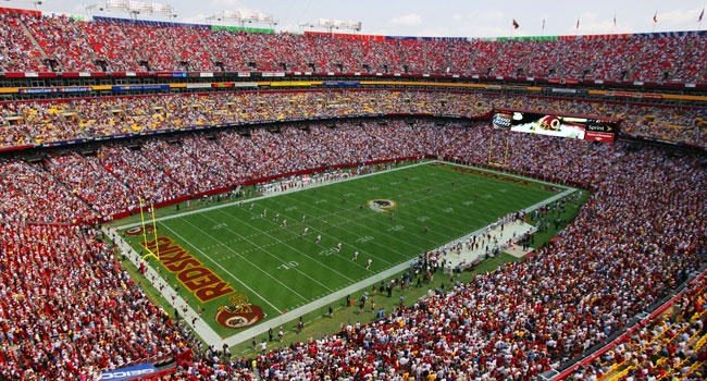 FedEx Field, Landover, MD.    Check.  Used to work for the Skins back in the day!