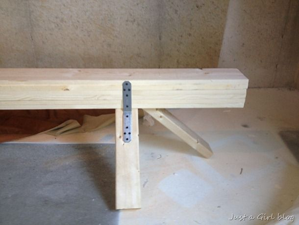 How To Make a Gymnastic Practice Beam With Supply List and Photo Instructions DIY Tutorial (I like the sturdy legs on this one, not so much the insane use of staples everywhere)