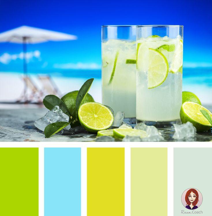 Eine Karibisch-schöne Farbkombination! Das Satte Grün-Gelb