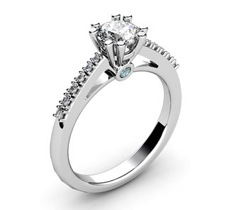 White gold engagement ring by T Jewellers