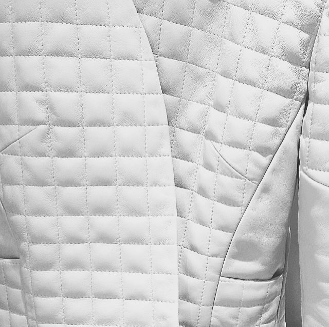 Quilted Leather Jacket details. #genellondon #leather