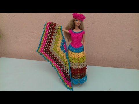 vestido para Barbie multicolor