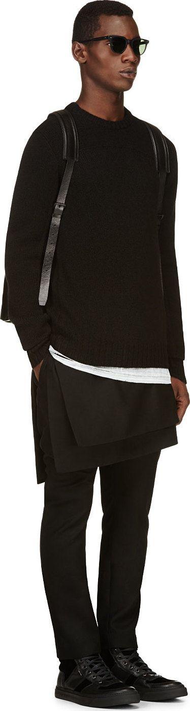 D.Gnak by Kang.D Black Skirt Panel Trousers
