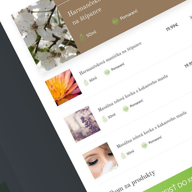 I fell in love with sidebar cart which shows when you add something to the cart. Here's little WIP for e-commerce web with natural cosmetics. - - -  Coop with @freetech_sk  - - - #designwip #designinspiration #designstudio #designsprint #designprocess #webdesign #webdesigner #weblayout #webproject #instaui #minimal #cart #ux #uxdesign #uxprocess #brno #praha #bratislava #liptovskymikulas #designagency #layout #designproject #uidesignpatterns #designstudio #dribbble #dribbblers #uitrends…