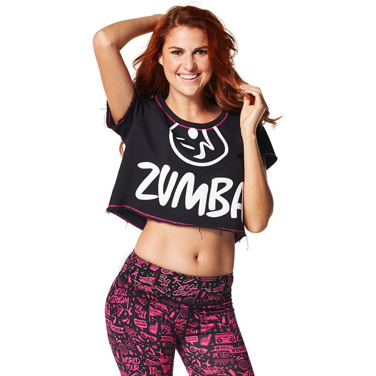 SWAG IN THE CITY CROP TOP - BACK TO BLACK ------------- Start spreading the news, the Swag in the City Crop Top is IT! French Terry fabric coupled with raw edges and contrast stitching makes this top a dance floor staple. Zumba Top.