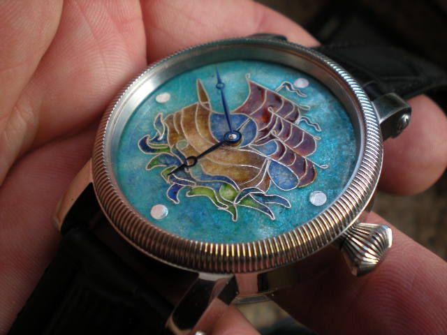 Enamel dials watch.