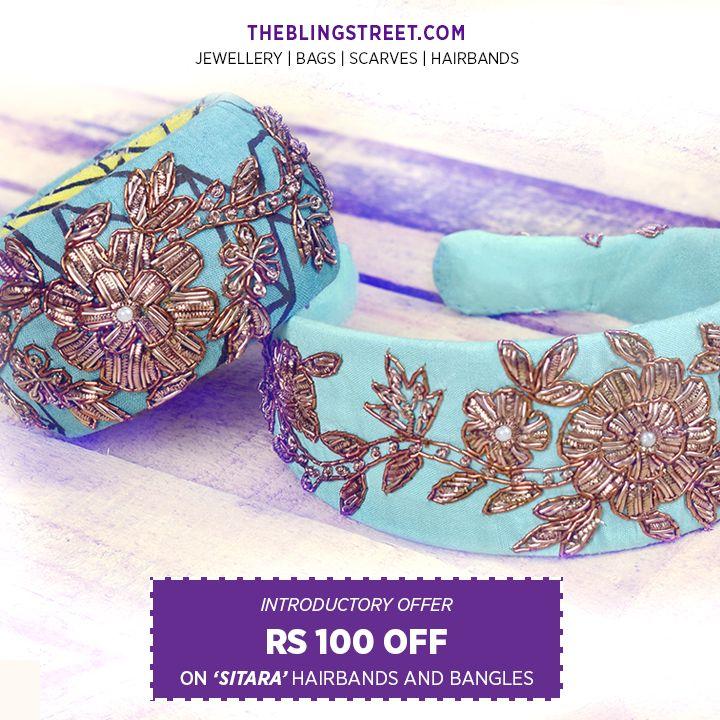Sitara bangles & Hair accessories  http://www.theblingstreet.com/designers/-sitara