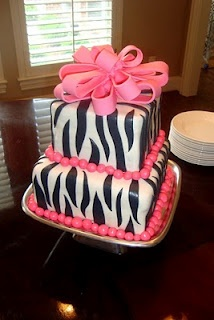 Zebra themed baby shower. Zebra cake. www.storytimecakes.com