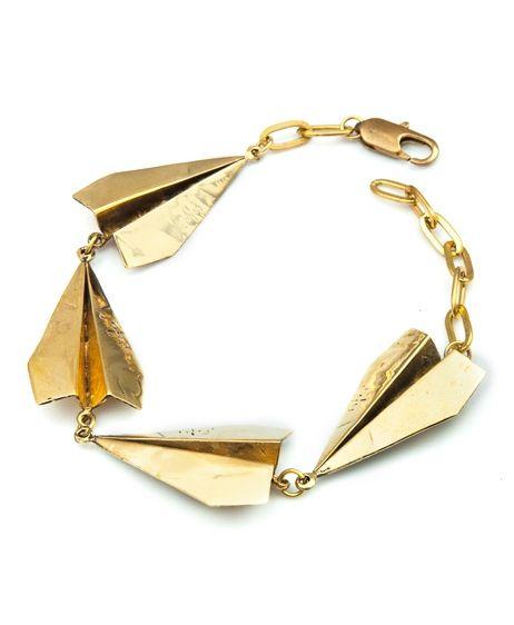 Paper planes bracelet
