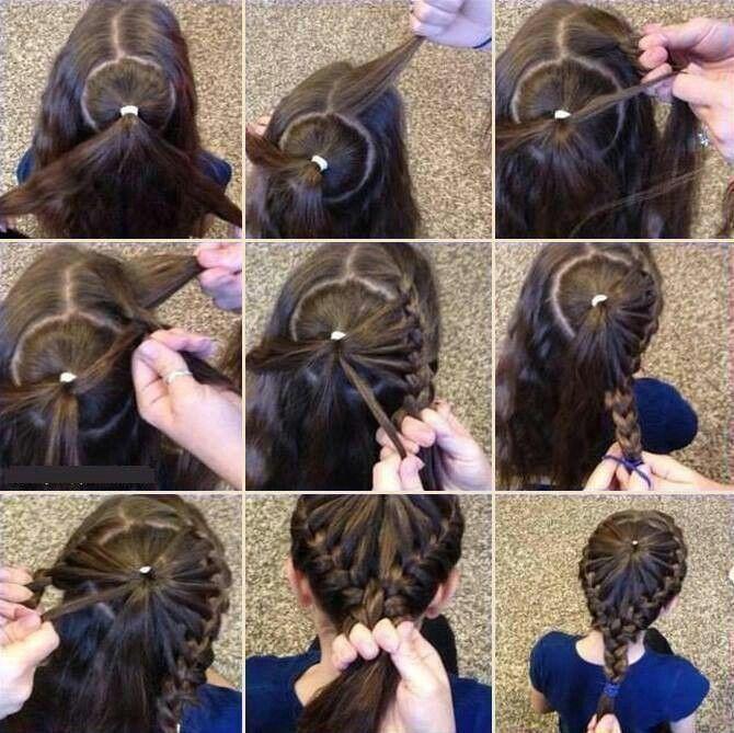 Halo braided hair