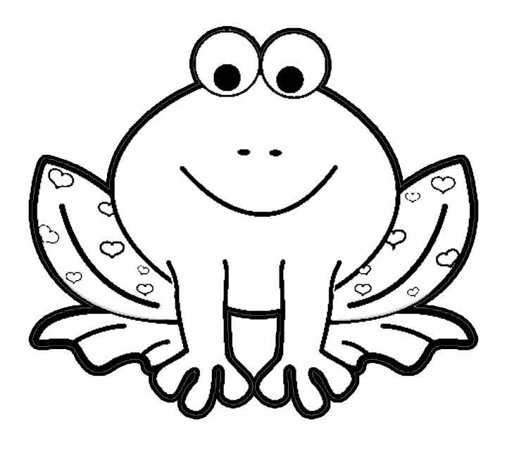 Printable Frog Coloring Pages Fresh Valentine S Day Cartoon Frog With Hearts Coloring Page Frog Coloring Pages Animal Coloring Pages Cartoon Coloring Pages